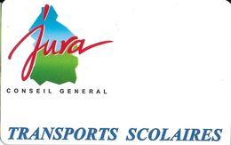 TICKET BILLET TRANSPORT AUTOBUS CARTE TRANSPORTS SCOLAIRES CONSEIL GÉNÉRAL LONS LE  SAUNIER JURA 39 - Titres De Transport