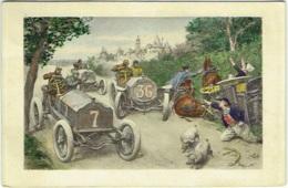 Illustrateur : Marchetti. Course Automobile. - Altre Illustrazioni