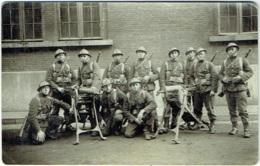 Carte Photo. Militaria. Soldats Et Mitrailleuse. - Krieg, Militär