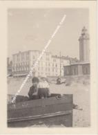 PHOTO BLANKENBERGE 1923 L' ANCIEN PHARE / PENICHE, CANOT - Blankenberge