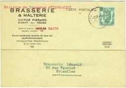 Publicité Bière. Dinant. Brasserie Et Malterie Victor Pierard. - Publicité