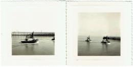 Foto/Photo. Nieuwpoort/Nieuport.  Bateaux De Pêche. 1955. Lot De 2 Photos - Barche