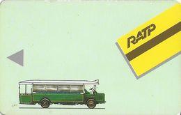 TICKET BILLET TRANSPORT AUTOBUS CARTE TRANSPORTS ??? RATP - Titres De Transport