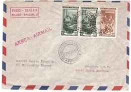 POSTA AEREA X U.S.A. PAGGI-ZANARIA MILANO-SPADARI 2 - 1946-60: Marcophilia