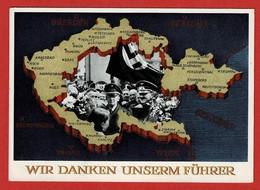 Ganzsache Gelaufen: Wir Danken Unserem Führer 2 Scan - Germany
