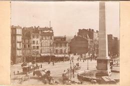 Photographie Animée De Marseille VIe, La Place Castellane Avec Tramway, Attelahes, Comptoir Des Mille Colonnes, Ca 1900 - Luoghi