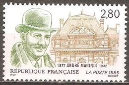 France - 1995 - André Maginot - YT 2966 Neuf Sans Charnière - MNH - France
