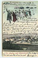 Ein Ausflug Nach HABELSCHWERDT - Couple Et Enfants Dans Le Ciel Avec Des Parapluies - Surréalisme - Schlesien