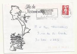 MARIANNE DU BICENTENAIRE N° 2720 émis En Carnet SUR ENVELOPPE + FLAMME NOIRMOUTIER STATION VOILE - 1989-96 Marianne Du Bicentenaire