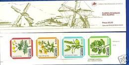 Portual Azores 1981 Local Flora Flores Regionais Dos Açores 1º G Booklet Caderneta 23 MNH - Flowers