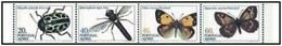 Portual Azores 1985 Insects And Butterflies Insectos Do Açores 2º G Booklet Caderneta 31 MNH - Butterflies