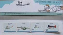 Portual Azores 1987 Seaplanes - Os Açores Na História Da Aviação Booklet Caderneta 56 MNH - 1946-....: Modern Era
