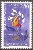 France - 1995 - Rafle Du Vel D'Hiv - YT 2965 Neuf Sans Charnière - MNH - France