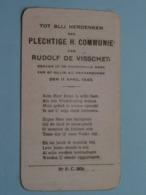 H. Communie Van Rudolf De VISSCHER Te St. GILLIS Bij DENDERMONDE Den 11 April 1943 ( Ziee / Voir Foto's ) ! - Communion