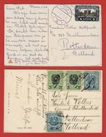 Inflation: 2 Auslandpostkarten Versch. Portostufen - 1918-1945 1ère République