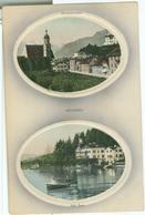 Hohenau An Der March; Teilansichten Mit Kirchstrasse Und Am See (Reliefkarte) - Nicht Gelaufen. (Aero Prägung D) - Gänserndorf