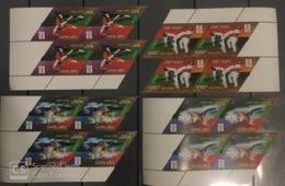 Blocks 4 Of Vietnam Viet Nam MNH Specimen Stamps 2008 : Beijing Olympic In China / Taekwondo / Swimming (Ms968) - Vietnam