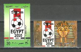 Egypt - 2003 - ( Egypt's Bid For Hosting 2010 World Cup Soccer Championships ) - Set Of 2 - MNH (**) - 2010 – Zuid-Afrika