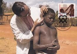 Germany 1982 Maximum Card: Health MEdicine; Medizin; Deutsche Aussätzigen Hilfswerk Organization; Helop Ethiopia - Medizin