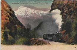 74, Haute-Savoie, THONES, Tramway De Thones - Défilé De Dingy, Scan Recto Verso - Thônes