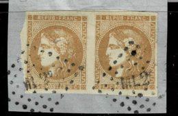 A4D-N°43 Paire Oblit Ambulant Sans Défaut - 1870 Bordeaux Printing