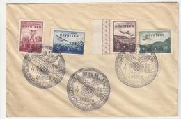 Croatia WWII NDH 1942 Croatian Wings Stamps And Special Postmark Bb200101 - Croacia
