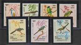 Kampuchea 1984 Oiseaux 484-90 7 Val ** MNH - Kampuchea