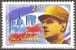 France - 1995 - 8 Mai 1945 – Victoire – Portrait Du Général Charles De Gaulle - YT 2944 Neuf Sans Charnière - MNH - France