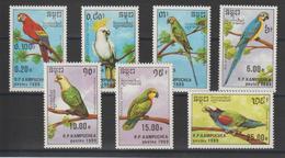 Kampuchea 1989 Oiseaux 872-78 7 Val ** MNH - Kampuchea