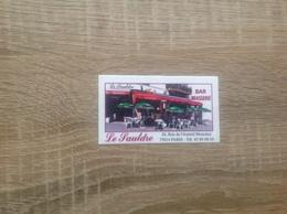 Ancienne Carte De Visite De Bar Brasserie  Le Sauldre   Paris 14eme - Cartoncini Da Visita