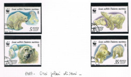 URSS - SG 5742.5745  - 1987  POLAR BEARS  (COMPLET SET OF 4) - USED° - RIF. CP - Usati