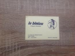 Ancienne Carte De Visite De Creperie   Le Biniou   Paris 14eme - Cartoncini Da Visita
