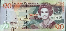 EAST CARIBBEAN STATES - 20 Dollars Nd.(2012) VF+ P.53 B - Oostelijke Caraïben