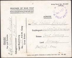 GB - WWII, POW Camp No. 107. Postcard, Kriegsgefangenenpost, 6.6.1946 To Germany. - Briefe U. Dokumente