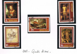 URSS - SG 5761.5765  - 1987  WEST EUROPEAN ART IN HERMITAGE MUSEUM   (COMPLET SET OF 5) - USED° - RIF. CP - Usati
