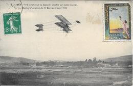 CANNES Port Aviation De La Napoule Crochon Sur Biplan Farman.Meeting Aviation 1910 - Cannes