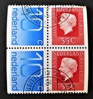 BLOC DE QUATRE DU CARNET 1976 - OBLITERE - 1949-1980 (Juliana)