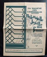 60176 - La Société Des Cinéromans  Présente Mademoiselle Josette Ma Femme  Pathé Consortium Cinéma Distributeur - Publicité Cinématographique