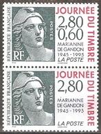 France - 1995 - Journée Du Timbre – Marianne De Gandon - YT 2933a Et 2934 Neufs Sans Charnière - MNH - France