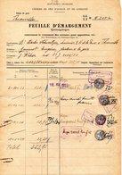 Fiscaux  Chemin De Fer D'alsace Lorraine       1933 Thionville - Fiscaux