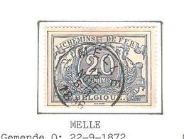 REF199/ CF 9 C.Melle 18-NOVE-8 M-1886 Aminci Léger - Dun Licht - Chemins De Fer