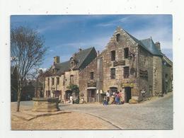 Cp , 29, LOCRONAN ,les Vieilles Maison De La Place,commerces ,voyagée 1989, Ed. Jos - Locronan