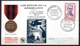 FDC FRANCE 1959 - N° 1199 - 15 F - Héros De La Résistance - Yvonne Le Roux - 1950-1959