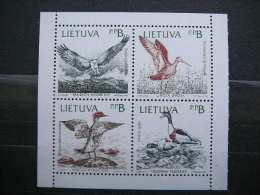 Birds Of The Baltic # Lietuva Litauen Lituanie Litouwen Lithuania # 1992 MNH # Mi. 501/4 - Lithuania