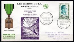 FDC FRANCE 1959 - N° 1200 - 20 F - Héros De La Résistance - Médéric Vedy - 1950-1959