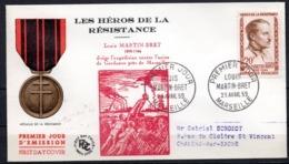 FDC FRANCE 1959 - N° 1201 - 20 F - Héros De La Résistance - Louis Martin Bret - 1950-1959
