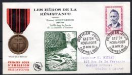 FDC FRANCE 1959 - N° 1202 - 30 F - Héros De La Résistance - Gaston Moutardier - 1950-1959