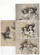 2 Meisjes  Serie 610   1-6 / 4 Kaarten 1907 - Enfants