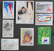 FRANCE - 1995 - YT 2971 à 2975 ** + 2983 à 2985 **- PEINTURES ET COMMEMORATIFS - Frankreich