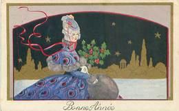 Illustration Femme Art Deco - Bonne Année   H 1139 - 1900-1949